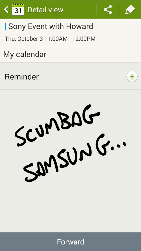 Note 3 S-Planner