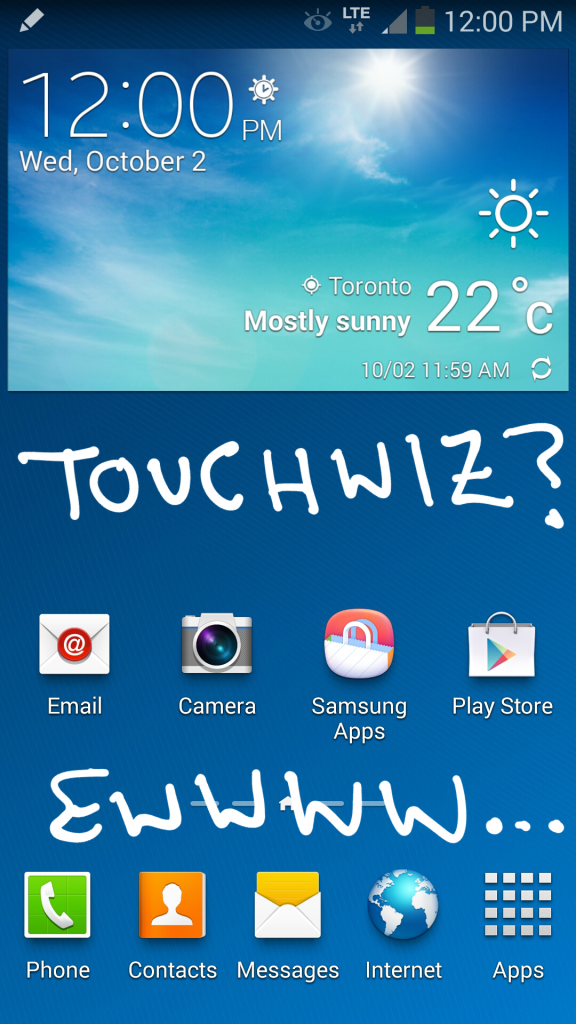 Note 3 Touchwiz