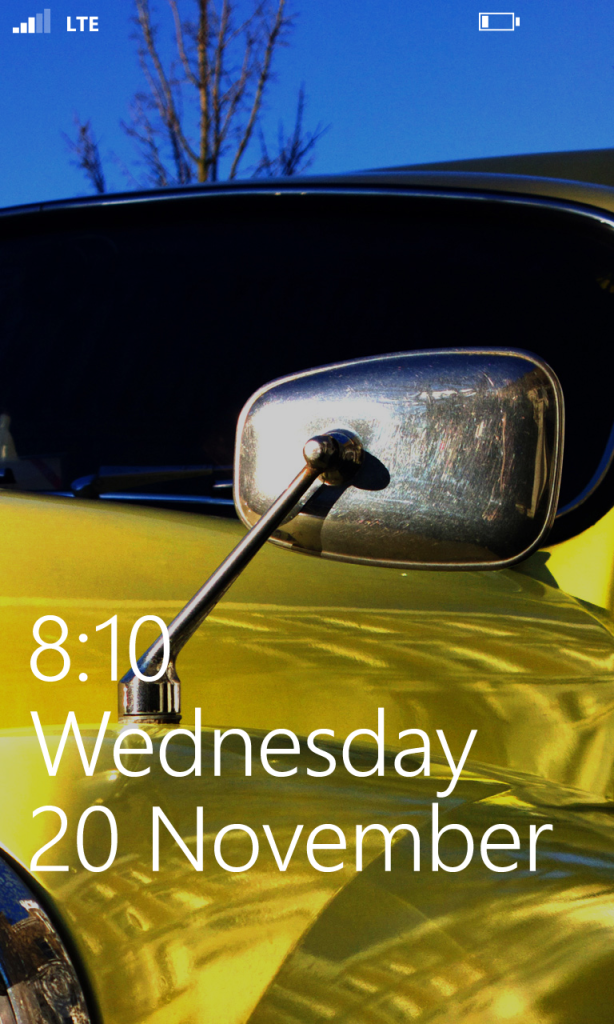 Lumia Standby Screen