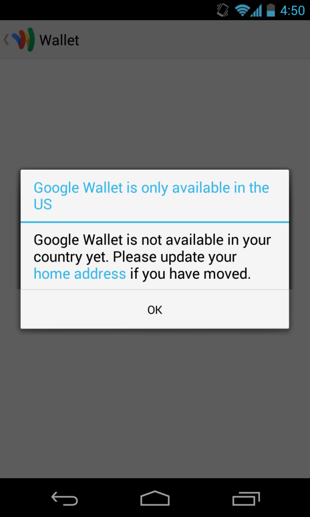 Google Wallet Fail
