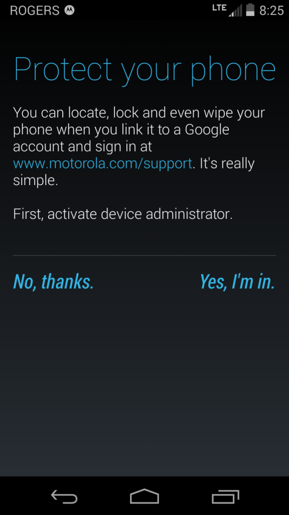 Moto G LTE Protection