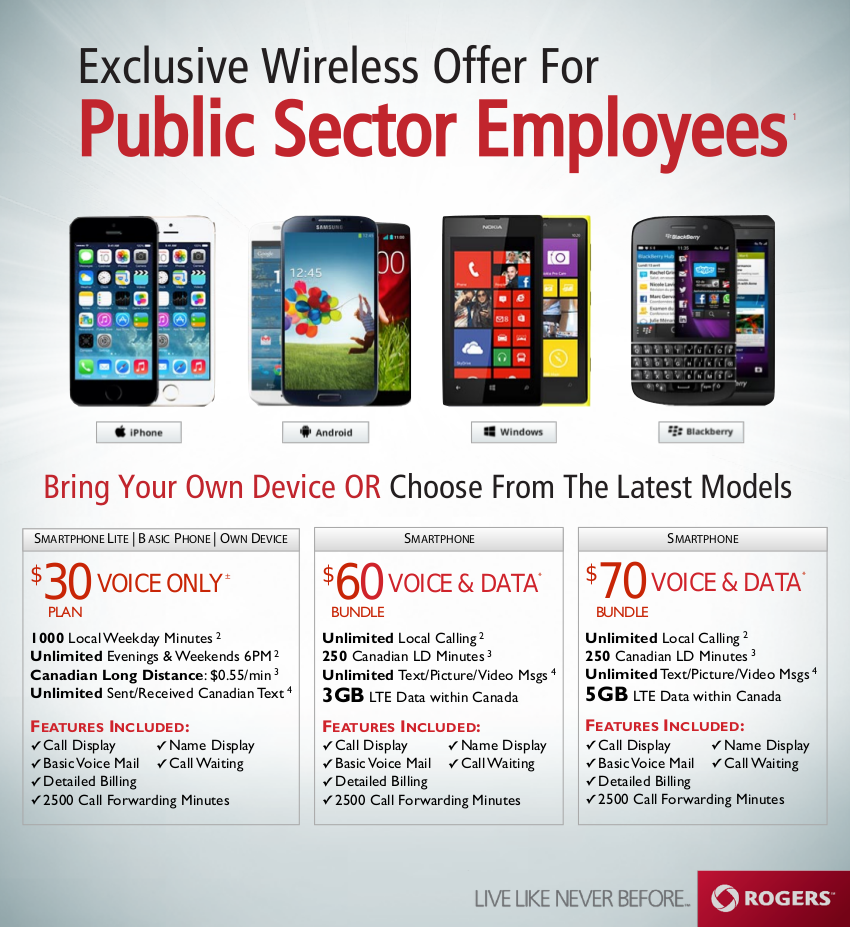 Rogers Public Sector Corporate Plan Flyer