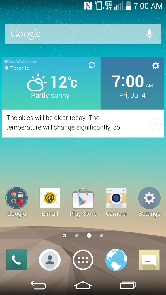 LG G3 Home Screen
