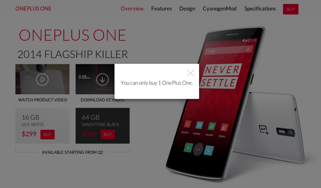 OnePlus - Only One, Please!
