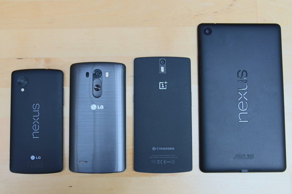 OnePlus One Size Comparison