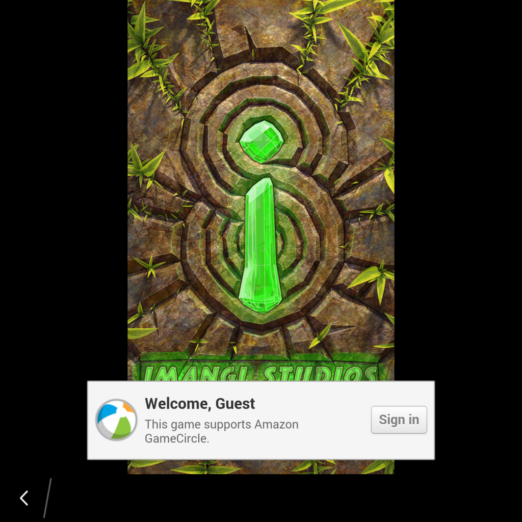 Temple Run 2 Splash Screen on the BlackBerry Passport