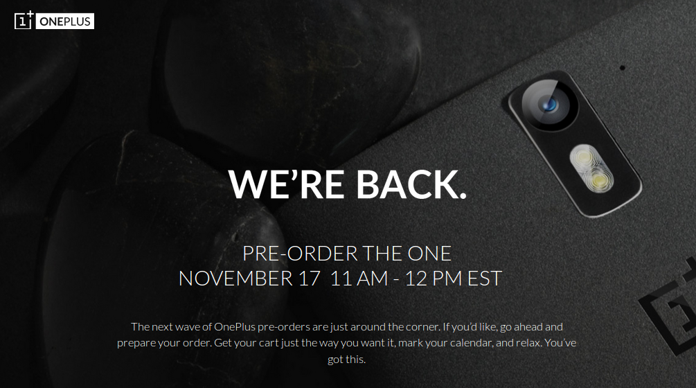 OnePlus Pre-Order Page