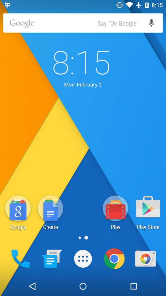 CM12 Home Screen