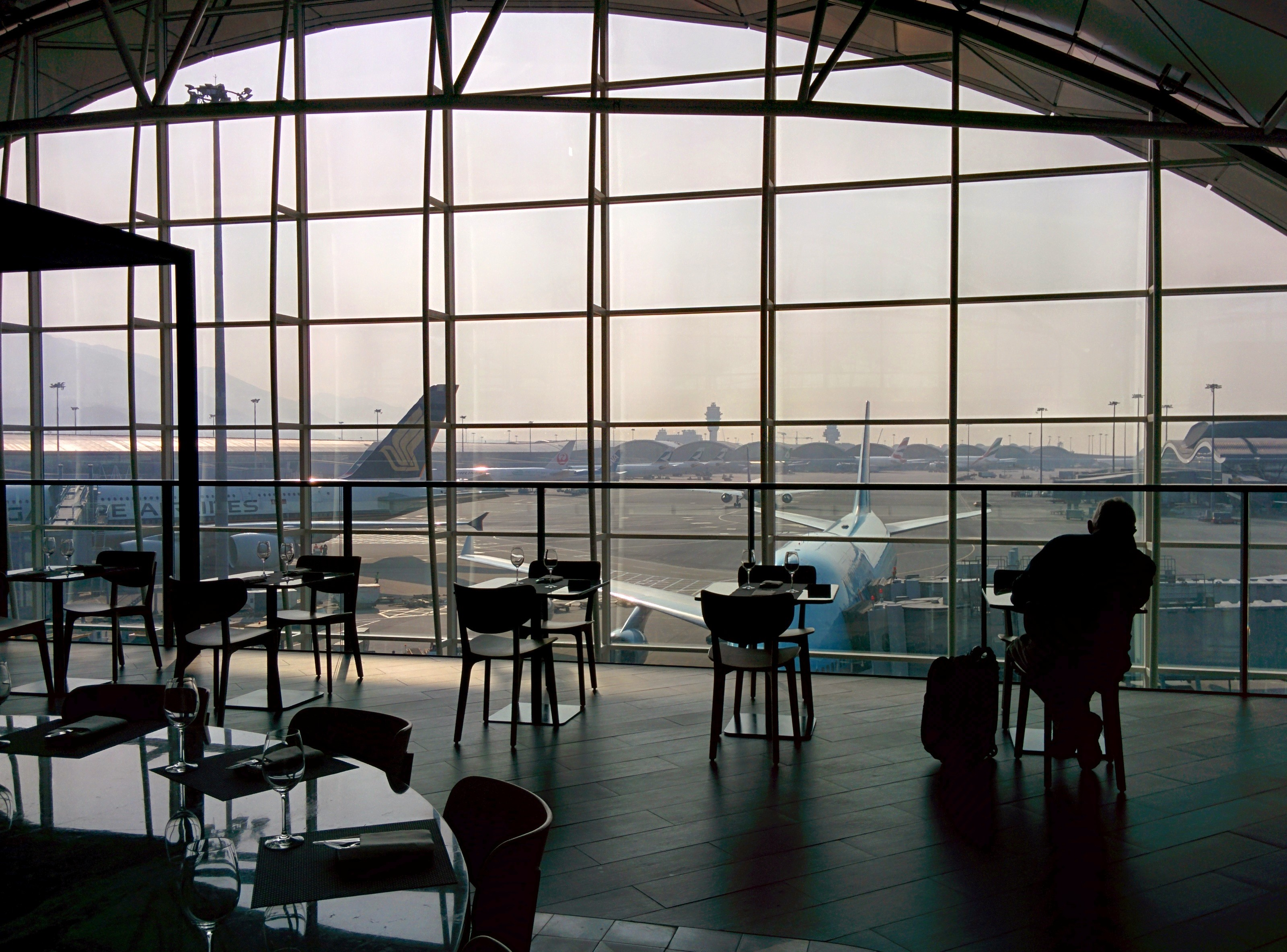 Qantas Lounge at HKG