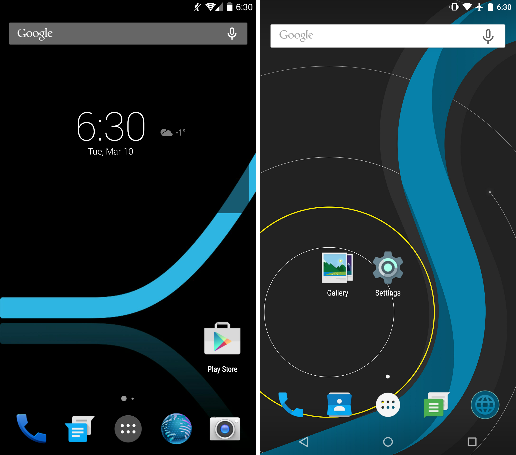 Slim vs. Slim - Home Screens