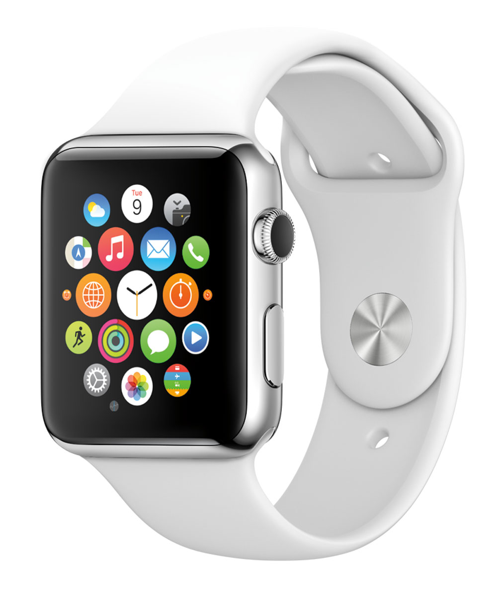 Apple Watch (in white)